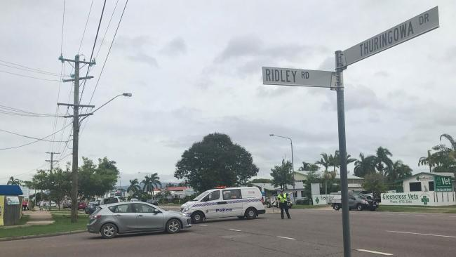 A police road block on Thuringowa Dr. Picture Kelsie Iorio