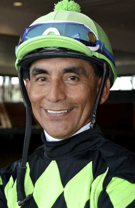 Jose Flores was among the best jockeys in Pennsylvania history. (Barbara Weidl/EQUI-PHOTO via AP)