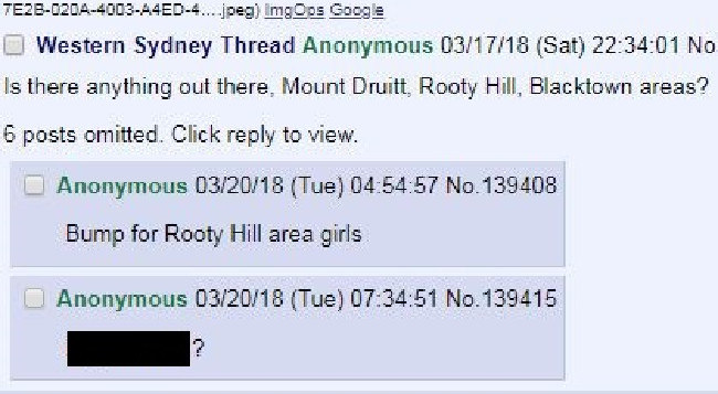 Forum for pictures of women from Mount Druitt, Rooty Hill and Blacktown. Picture: Screenshot AussieSluts