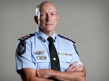 Police Deputy Commissioner and Commonwealth Games commander Steve Gollschewski at Police HQ in Brisbane. Picture: Steve Pohlner