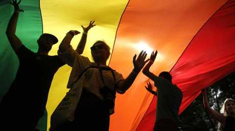 Gay pride parades have persisted in Belgrade, Serbia despite hostility and even violence. Picture: AFP/Oliver Bunic