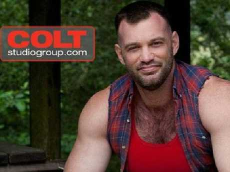 Australian bodybuilder Scott Sherwood has been outed as porn star Aaron Cage.  Picture:  Colt