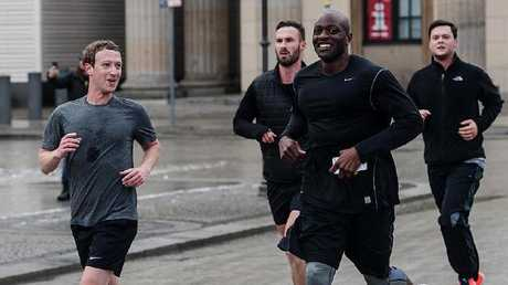 Zuckerberg went for a run with heavy security in Berlin after being threatened by Islamic State.