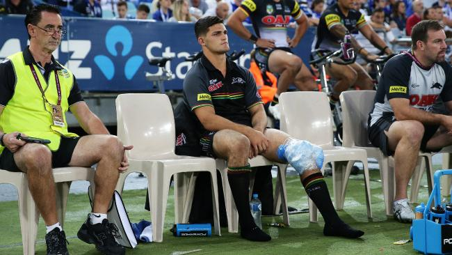 Nathan Cleary will be out for much longer than first feared. Picture: Brett Costello