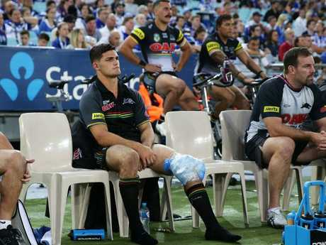 Nathan Cleary will miss the match due to injury. Picture: Brett Costello