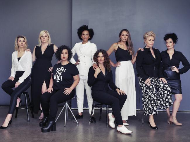 Now Australia ambassadors Abby Earl, Helen Dallimore, Mahalia Barnes, Zindzi Okenyo, Danielle Cormack, Prinnie Stevens, Melinda Schneider and Leah Flanagan. Picture: Sam Ruttyn