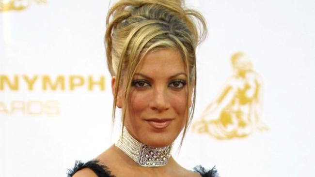 Tori Spelling poses in Monaco in 2002 as she arrives for the 42nd Monte Carlo Television Festival. Picture: AFP