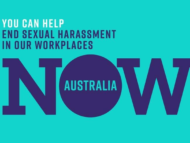 The 'Now Australia' logo for ending sexual harassment in workplaces. Picture: Supplied