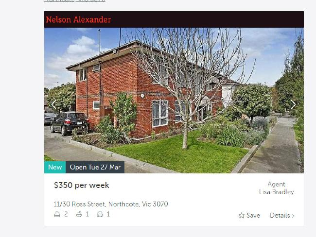 For only $350 a week you can live in this two bedroom flat in a great location in Melbourne. For this budget, you're not buying anywhere near there. Picture: Realestate.com.au