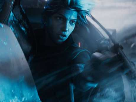 Tye Sheridan as his virtual reality avatar Parzival in a scene from Ready Player One.