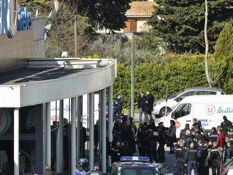Ladkim is believed to have killed two hostages in the supermarket. Picture: AFP PHOTO / PASCAL PAVANI