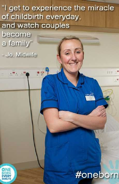 Midwife Joanne Lumsden featured on UK TV show One Born Every Minute, a fly on the wall look at life in a maternity ward.