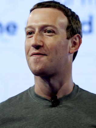 Facebook CEO Mark Zuckerberg. Picture: AP