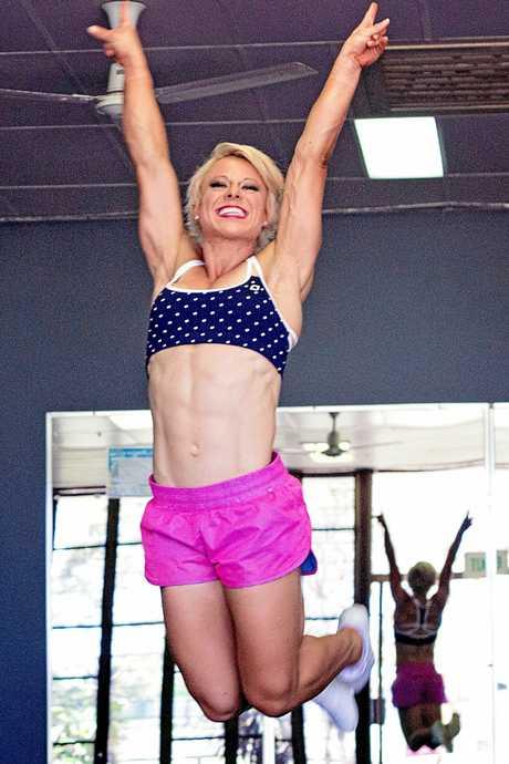 SWEAT IT OUT: Yaralla group fitness instructor and World Aerobics Champion Sandi Carmichael Heard.