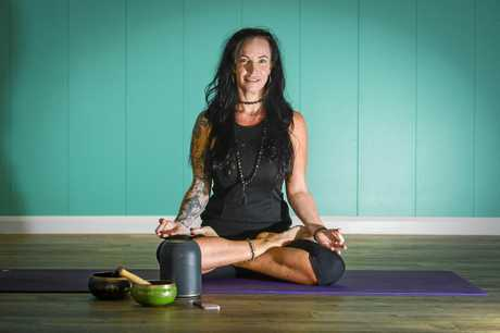 Anita Rienks is a Gladstone yoga teacher who plays music during her classes.