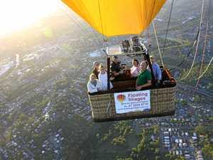 Statewide TV exposure for Ipswich region, balloon operator