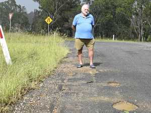 Potholes put motorists who use 'highway shortcut' at risk