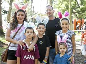 Kids hop along to find 50,000 Easter eggs
