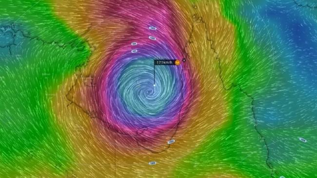 Cyclone Nora as seen from satellite imagery. Picture: Higgins Storm Chasing