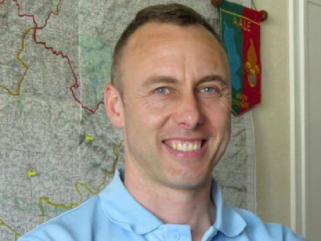Colonel Arnaud Beltrame was shot after swapping himself with a hostage on Friday. He married his partner Marielle in a moving bedside ceremony. He died on March 24 of his wounds, becoming the gunman's fourth victim. / AFP PHOTO / LA GAZETTE DE LA MANCHE / —