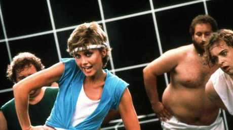 The OG ONJ: Olivia Newton-John on the set of the Physical video. Pic: Supplied