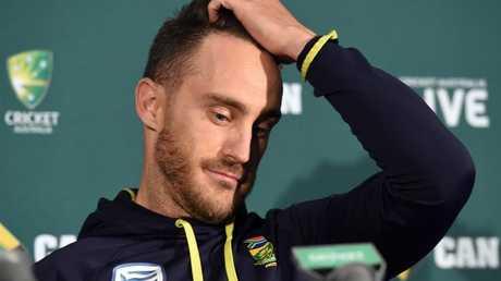 South Africa captain Faf du Plessis.