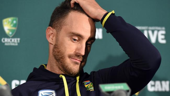 South Africa captain Faf du Plessis.