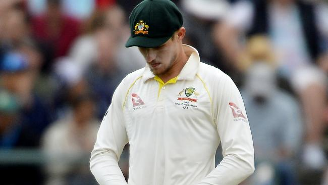 Cameron Bancroft is at the centre of a ball tampering scandal.
