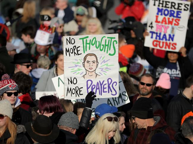 Half a million demonstrators are expected in Washington DC, matching the women's march and making it one of the largest rallies in the city since the Vietnam War. Picture: Chip Somodevilla/Getty Images/AFP