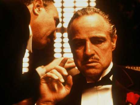 The mobster was obsessed with The Godfather, starring Marlon Brando as Don Corleone (pictured), and in later years would spend his time watching it in his underwear, a mountain of cocaine in front of him.