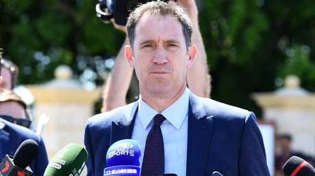 James Sutherland addresses the media. Picture: AAP Images