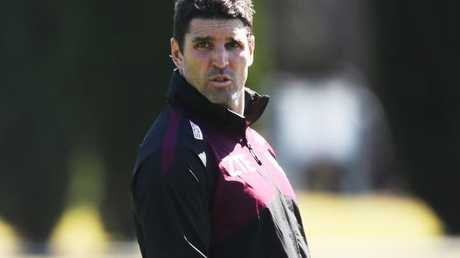 Manly coach Trent Barrett at training.