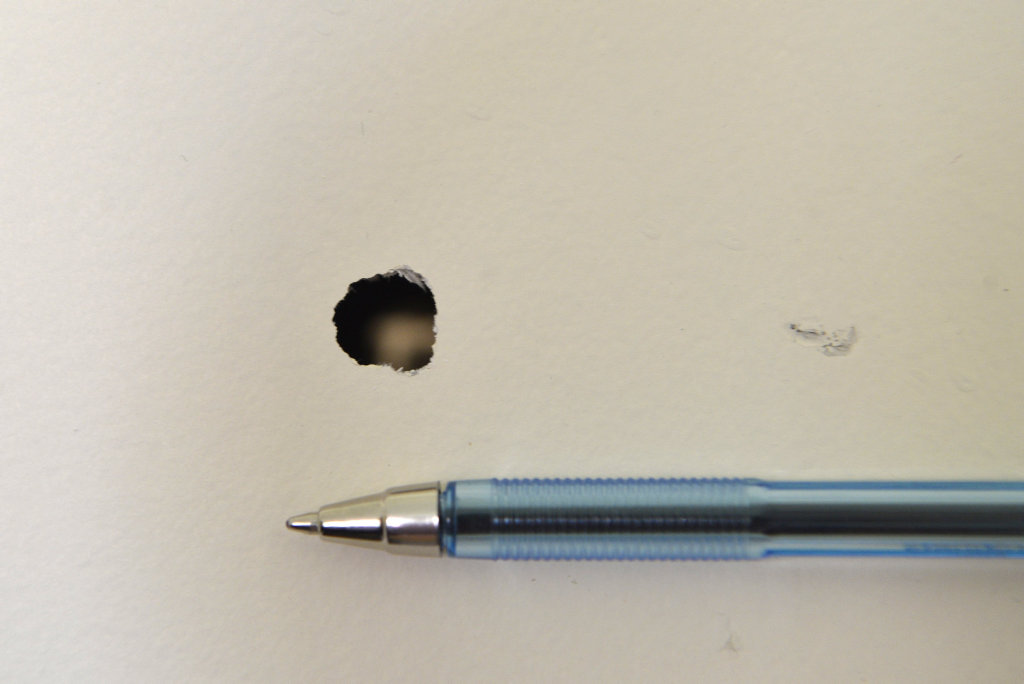 Police are investigating after shots were fired into a home on Seppelt St, Wilsonton Heights, including this that travelled through a glass window into an internal wall, Monday, March 26, 2018.