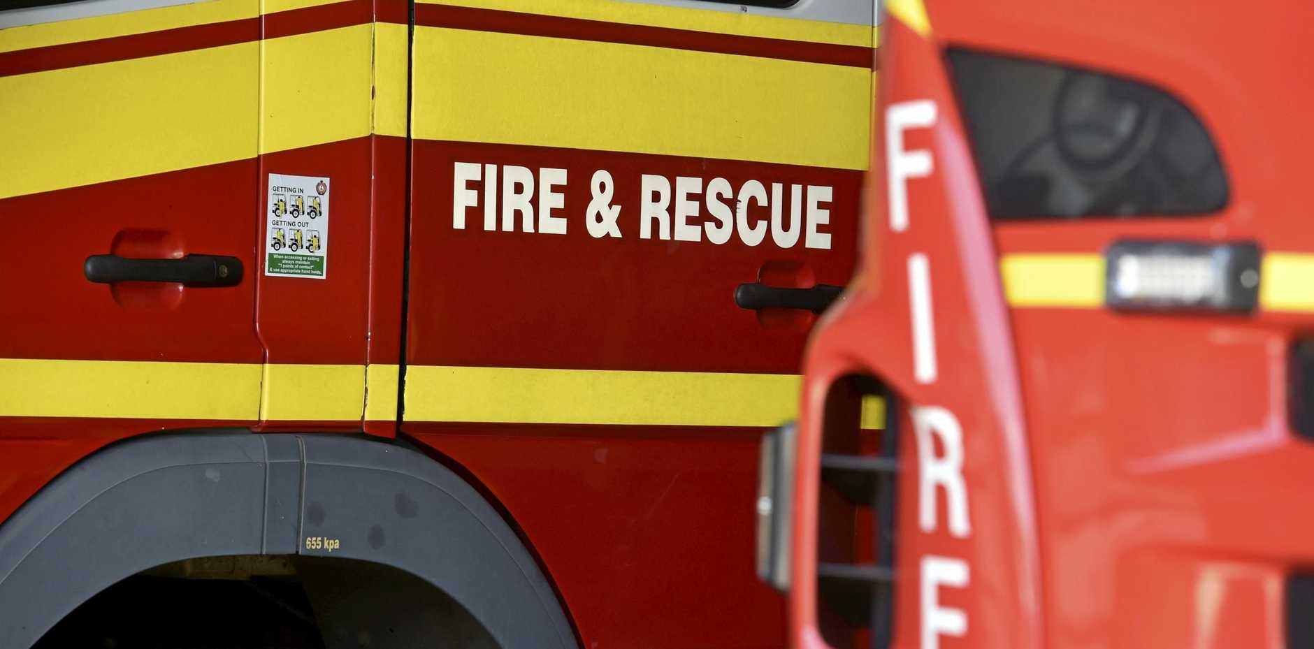 HOUSE FIRE: Crews were called to Rose St last night where a fire had started in the bathroom of a house.