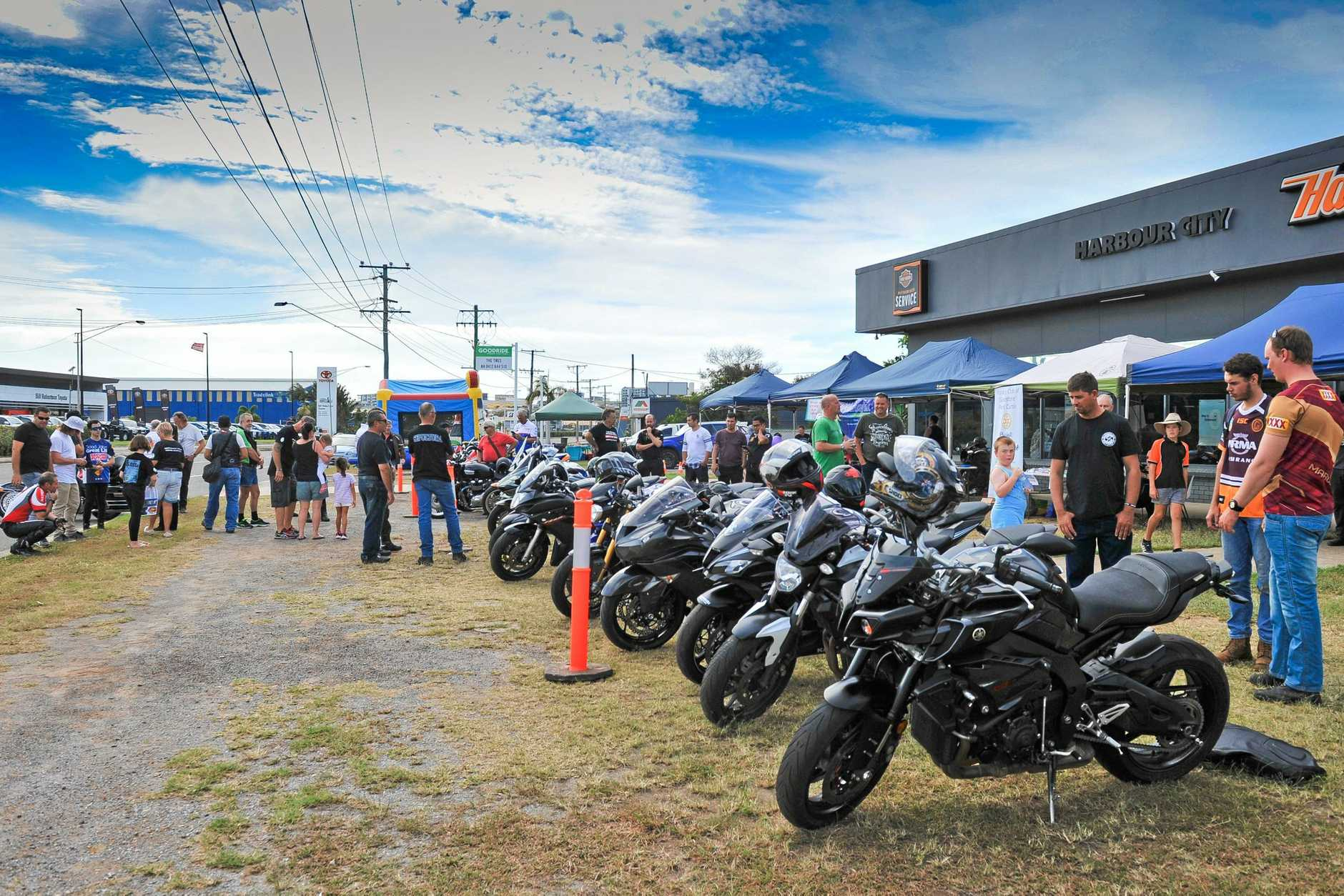 Ride to support suicide prevention from Gladstone to Raglan, finishing at Calliope with beers and bands.