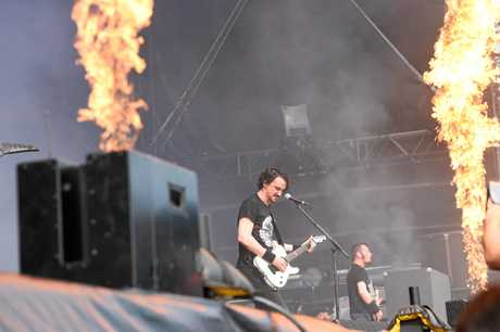 Gojira perform at the first Download Festival in Melbourne on the Black Stage.