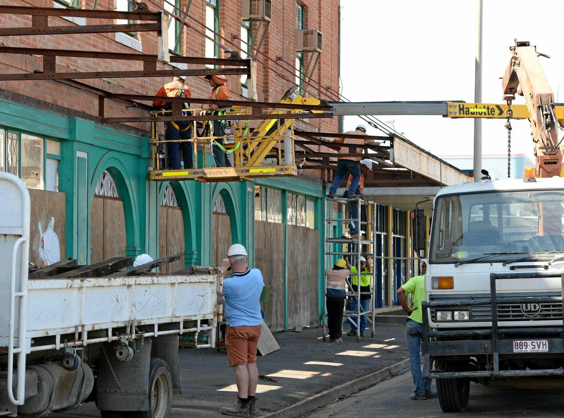 Demolition gets underway at the old Wintergarden Theatre on Bolsover Street in 2013.