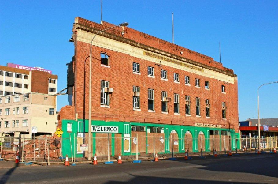 REDEVELOPMENT: Wintergarden Theatre's facade prior to demolition.