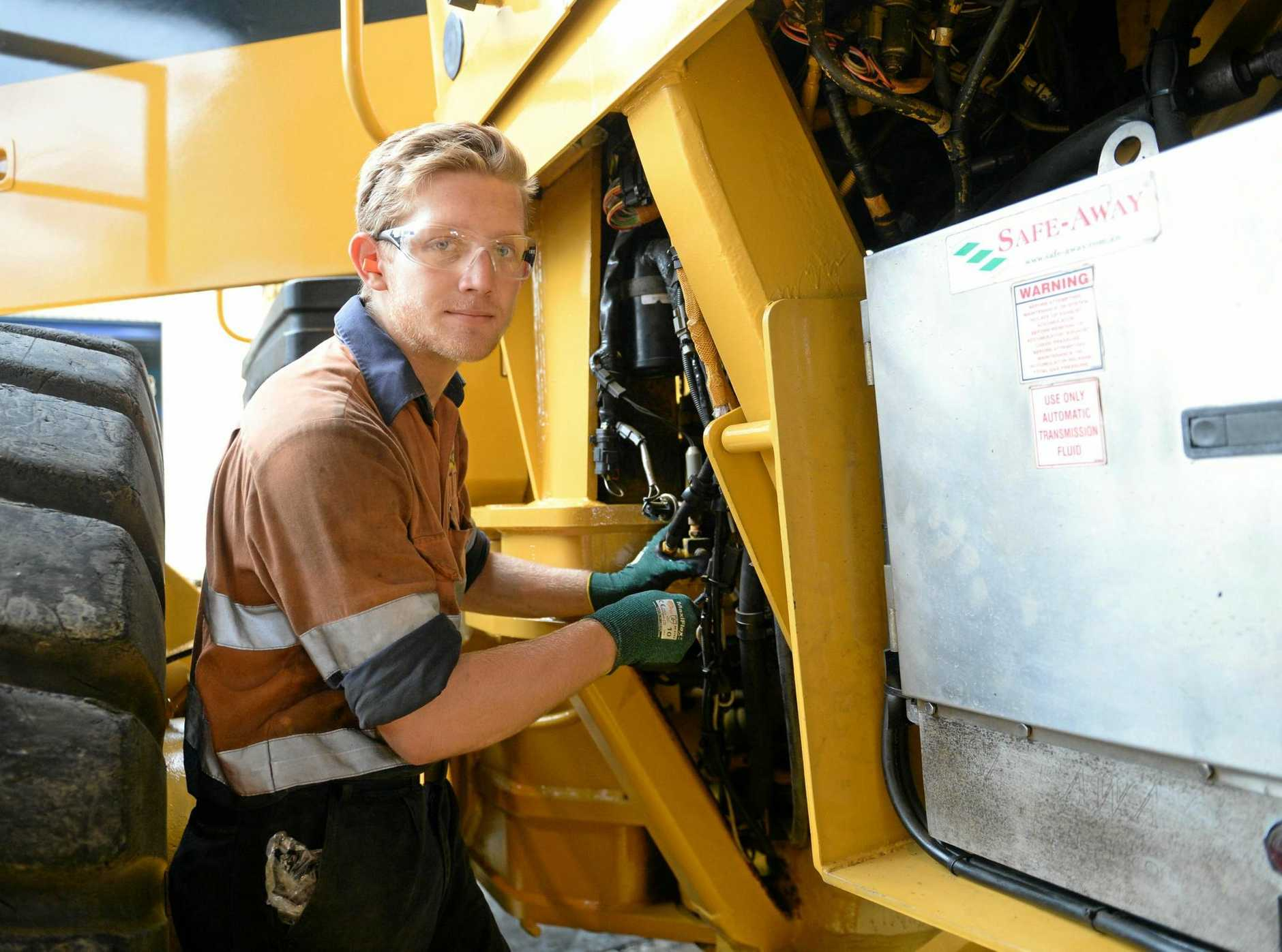 Hastings Deering apprentice Riley Stewart is one of CQ's employed youths.