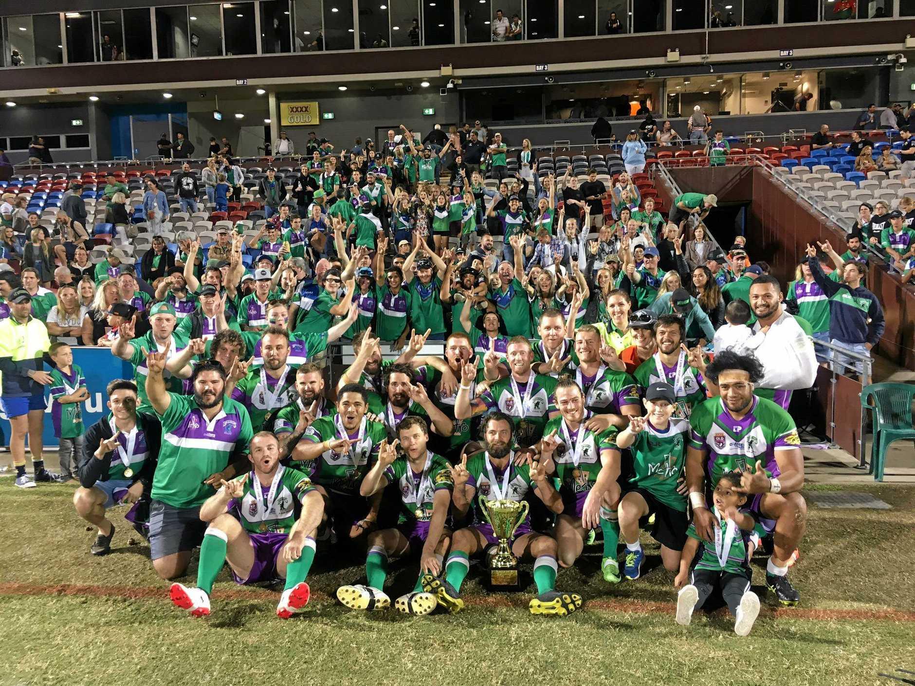 TEAM TO BEAT: Whitsunday Brahmans after their premiership win last season.
