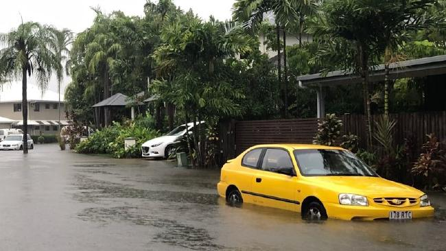 Flooding in Port Douglas after they receieved 598mm of rain. Picture: Chris Allen Baker