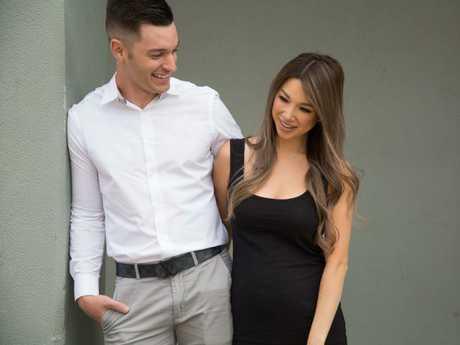 Catherine Wong and her husband Alex Baro.