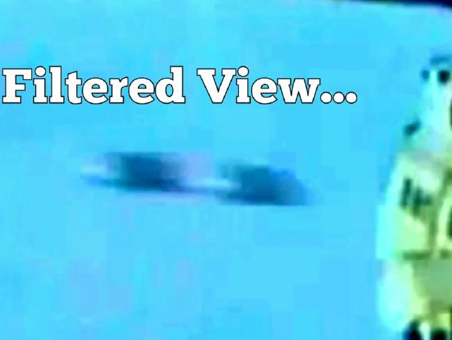 'UFOs' pictured zooming past a helicopter in France.