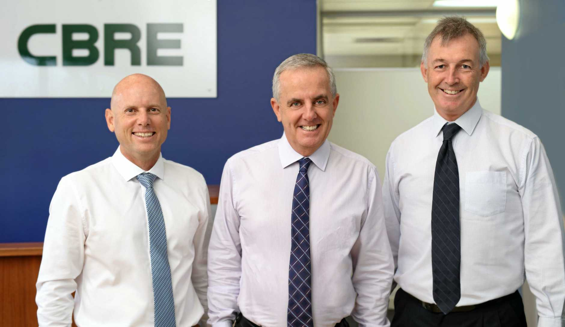 VALUED ADDITION: CBRE's Russell Madden, Rem Rafter and David Lovell.