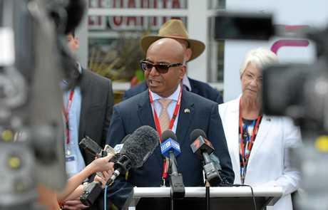 Adani Australia CEO Jeyakumar Janakaraj during a visit to Rockhampton last year.