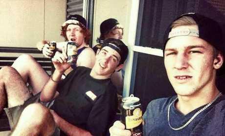 DEVASTATING: Blackwater mates Mason McDonald, Jordan Brotchie and Dan Capewell.