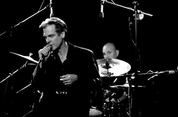 ON STAGE: Australian musicians Don Walker and Hamish Stuart.