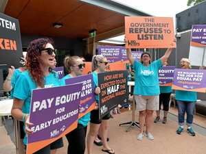 Coast early learning educators demand equal pay