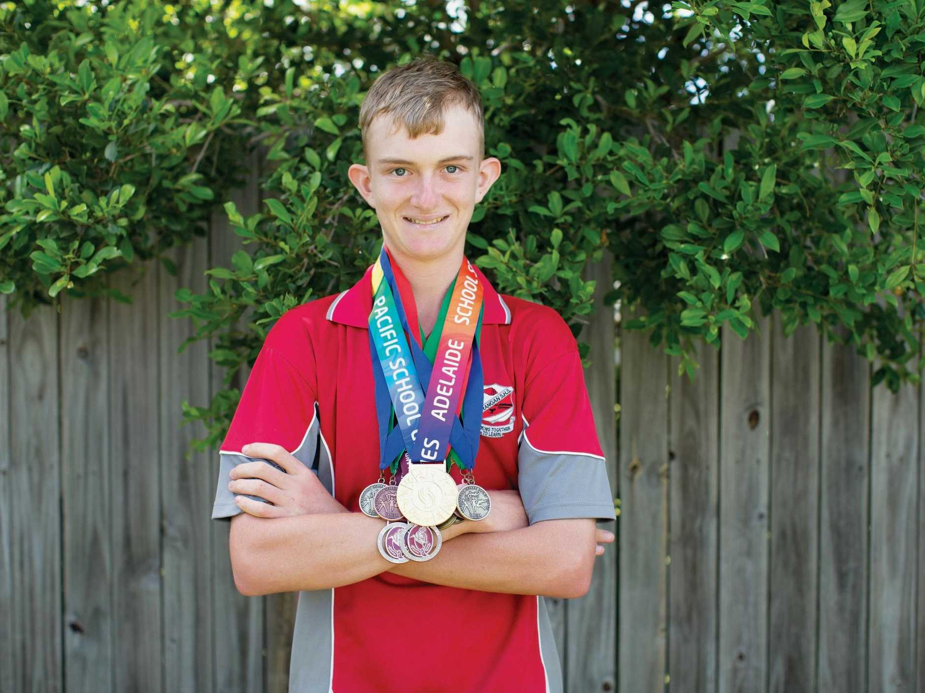 WINNER WINNER: Matt Taylor won gold at the Pacifica School Games held in Adelaide in 2017.