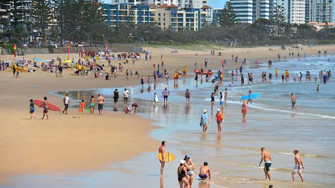 SUMMER CROWDS: Alexandra Headland Beach.